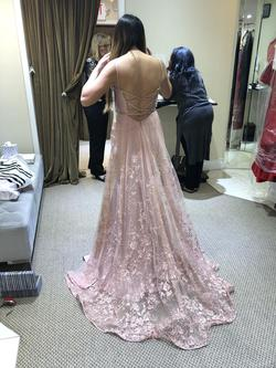 Ellie Wilde Pink Size 4 Prom Backless Train Dress on Queenly