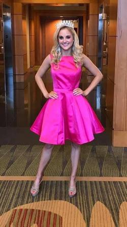 Sherri Hill Pink Size 4 Flare Interview Cocktail Dress on Queenly