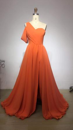 Orange Size 2 A-line Dress on Queenly
