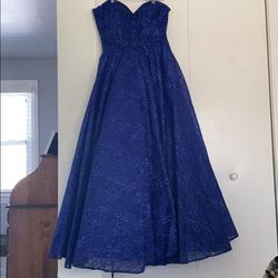 Queenly size 14  Blue Train evening gown/formal dress
