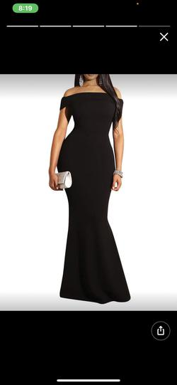 Queenly size 14  Black Straight evening gown/formal dress