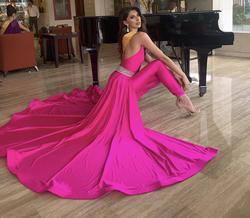 Queenly size 0  Pink Jumpsuit evening gown/formal dress
