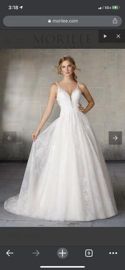 Mori Lee White Size 20 Backless Plunge A-line Dress on Queenly