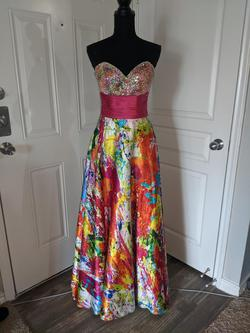 Queenly size 8 Night Moves Multicolor Ball gown evening gown/formal dress