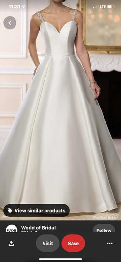 Stella York White Size 12 Backless Ball gown on Queenly