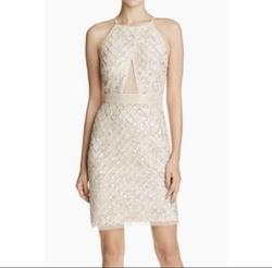 Aidan Mattox Nude Size 2 Mini Cocktail Dress on Queenly