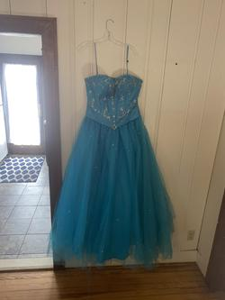 Queenly size 16  Blue Ball gown evening gown/formal dress