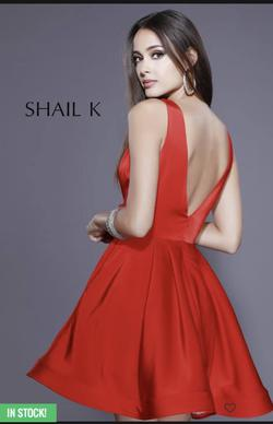 Shail K Red Size 4 Homecoming Interview Cocktail Dress on Queenly