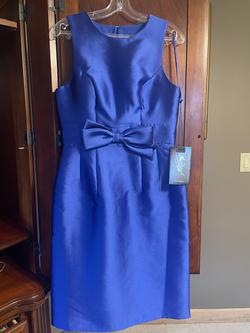 Queenly size 8 Mac Duggal Blue Cocktail evening gown/formal dress