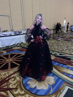 Queenly size 4  Black Ball gown evening gown/formal dress