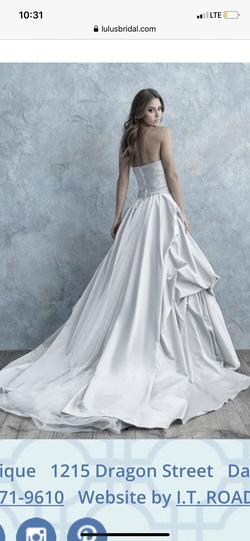 Allure Bridals White Size 6 Ivory Wedding Ball gown on Queenly