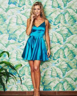 Queenly size 0 Sherri Hill Blue Cocktail evening gown/formal dress