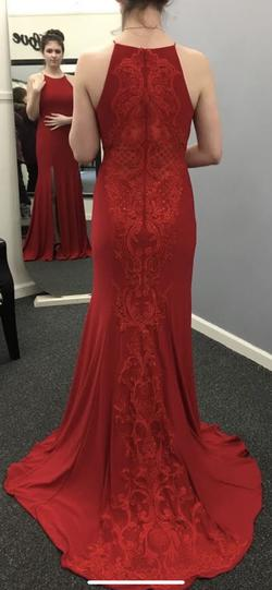 Queenly size 8  Red Side slit evening gown/formal dress