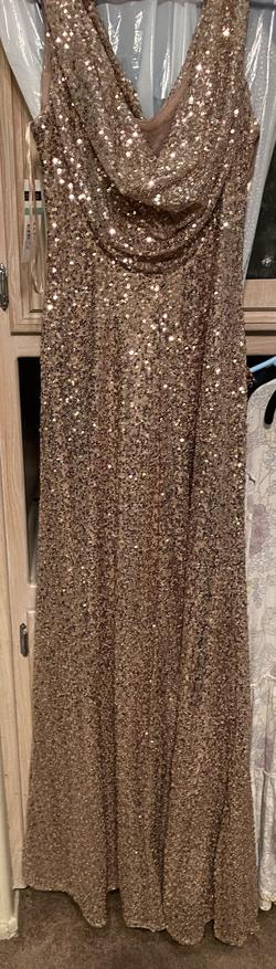 Queenly size 8 Cachet Gold Straight evening gown/formal dress