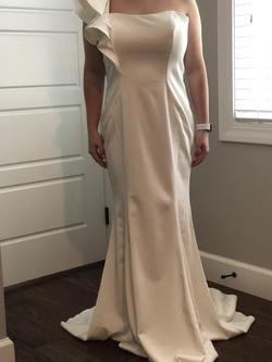 Queenly size 8  White A-line evening gown/formal dress