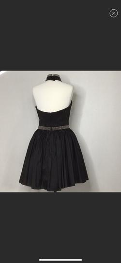 Sherri Hill Black Size 12 Halter Backless Interview Cocktail Dress on Queenly