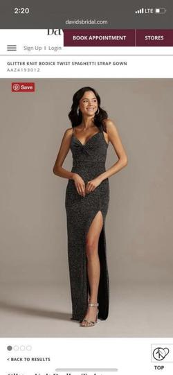 Silver Size 0 Straight Dress on Queenly