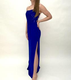 Jovani Blue Size 6 Straight Dress on Queenly