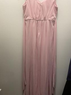 David's Bridal Pink Size 14 Straight Dress on Queenly