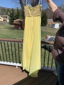 Tiffany Designs Yellow Size 14 Prom Plus Size Straight Dress on Queenly