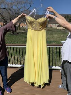 Queenly size 14 Tiffany Designs Yellow Straight evening gown/formal dress