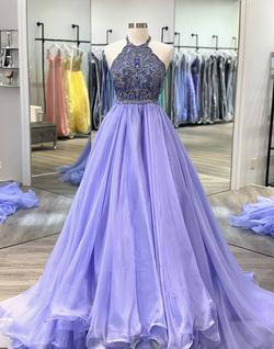 Queenly size 2 Sherri Hill Purple Ball gown evening gown/formal dress