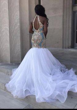 Sherri Hill White Size 2 Pageant Halter Custom Mermaid Dress on Queenly