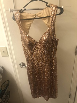 Queenly size 8 Faviana Gold Cocktail evening gown/formal dress