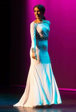 Mac Duggal White Size 4 Tall Height Custom Side slit Dress on Queenly
