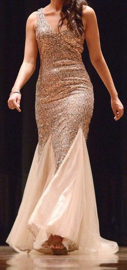 Queenly size 6 Colors Gold Mermaid evening gown/formal dress
