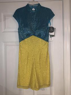 Queenly size 2 Ashley Lauren Multicolor Jumpsuit evening gown/formal dress