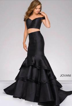 Jovani Black Size 4 Prom Mermaid Dress on Queenly