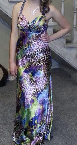 Queenly size 6  Multicolor Straight evening gown/formal dress