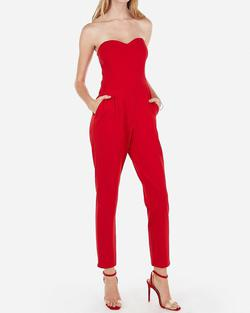 Red Size 8 Jumpsuit Dress on Queenly