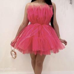 Queenly size 8 poshv Pink Ball gown evening gown/formal dress