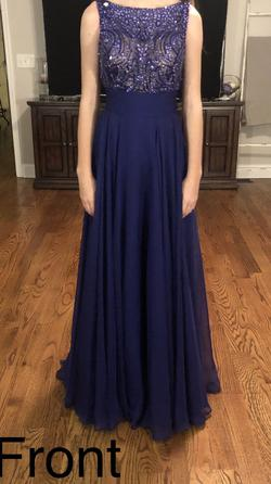 Queenly size 00  Multicolor Straight evening gown/formal dress