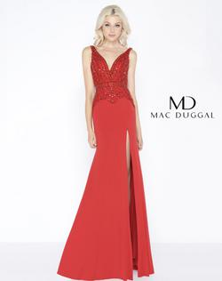 Queenly size 2  Red Side slit evening gown/formal dress
