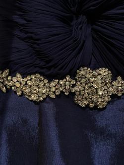 Jovani Blue Size 4 Belt Sweetheart Mermaid Dress on Queenly