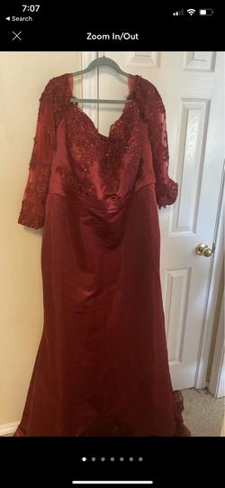 Queenly size 22 LaLa Mira Red Train evening gown/formal dress