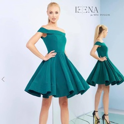 Queenly size 4 Mac Duggal Green Cocktail evening gown/formal dress