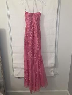 Sherri Hill Light Pink Size 2 Padded Side slit Dress on Queenly