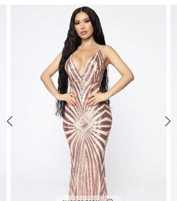 Nude Size 0 Straight Dress on Queenly