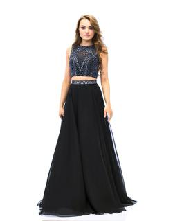 Queenly size 0 Milano Formals Black  A-line evening gown/formal dress