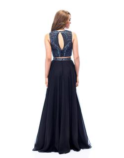 Style E1966 Milano Formals Black  Size 14 Tall Height A-line Dress on Queenly