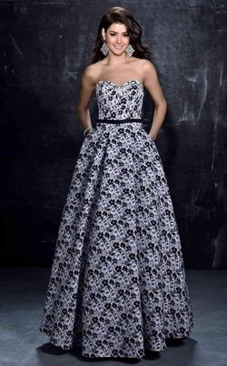 Style 1276 Nina Canacci Multicolor Size 2 Strapless Pockets Floral Ball gown on Queenly