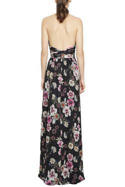 Style 461535 Jill Stuart Multicolor Size 0 Floral Side slit Dress on Queenly