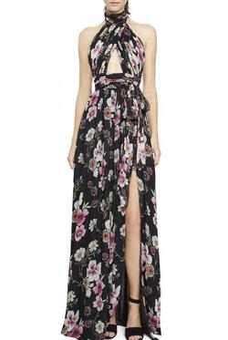 Queenly size 0 Jill Stuart Multicolor Side slit evening gown/formal dress