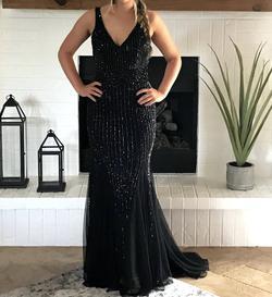Primavera Black Size 00 Sequin Jewelled Mermaid Dress on Queenly