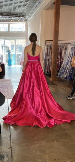 Jovani Pink Size 4 Train Ball gown on Queenly