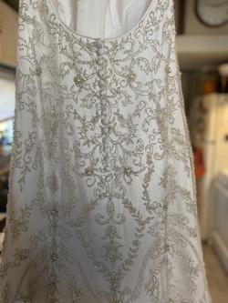 Oleg cassini White Size 8 Wedding Sweetheart Mermaid Dress on Queenly